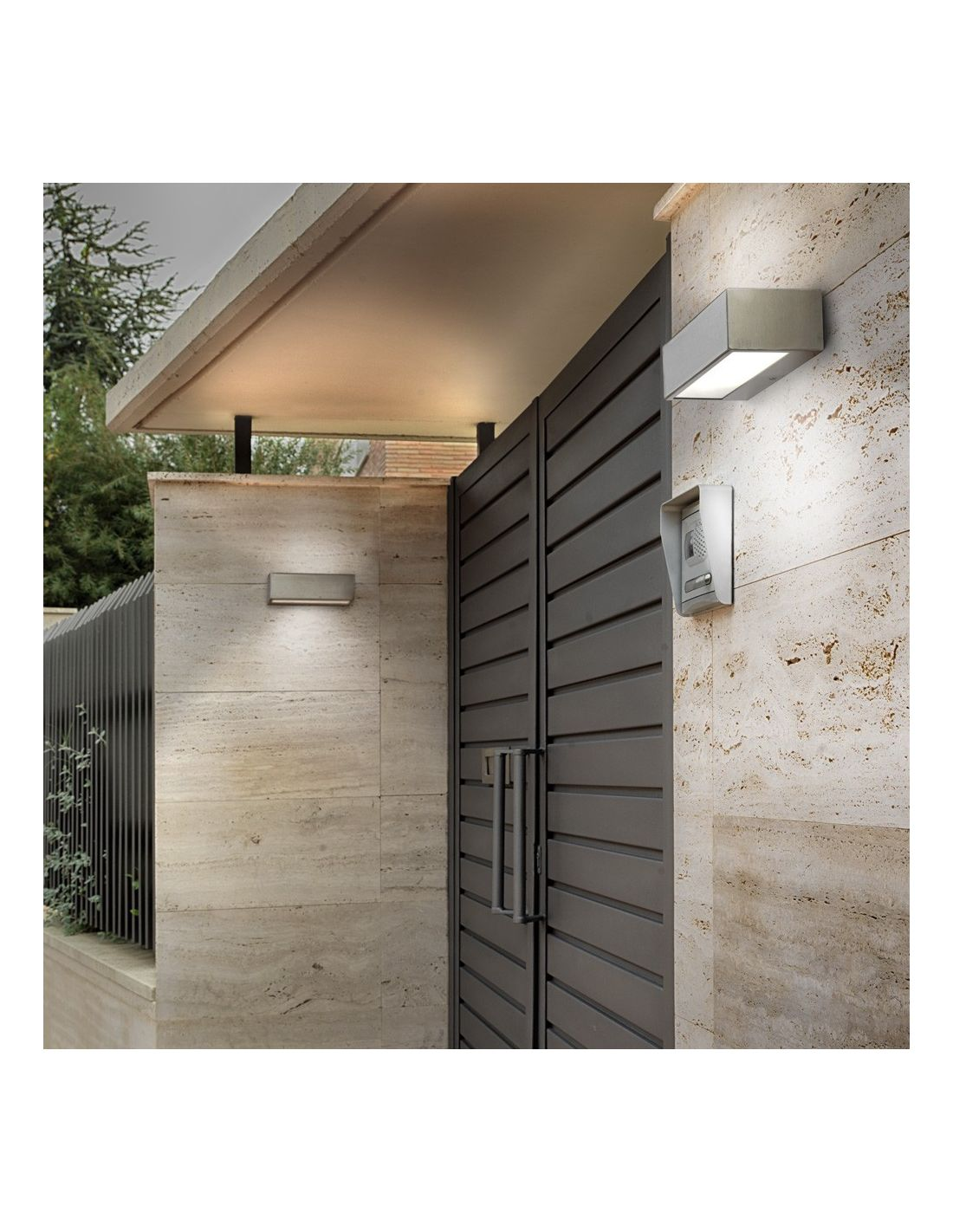 Aplique exterior n mesis gris claro env o r pido y seguro - Gris claro pared ...