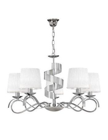 Lámparas Suspendidas Cromo y Plata