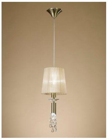 Lámparas con Pedrería de Cristal Iluminada