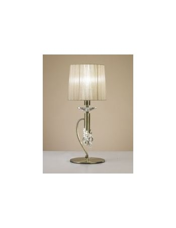 Lámpara Sobremesa con Pedrería de Cristal