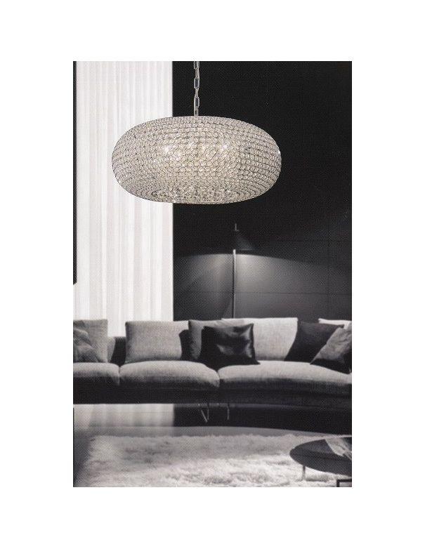 Lámpara Ovalada Crystal Mantra 9 Luces