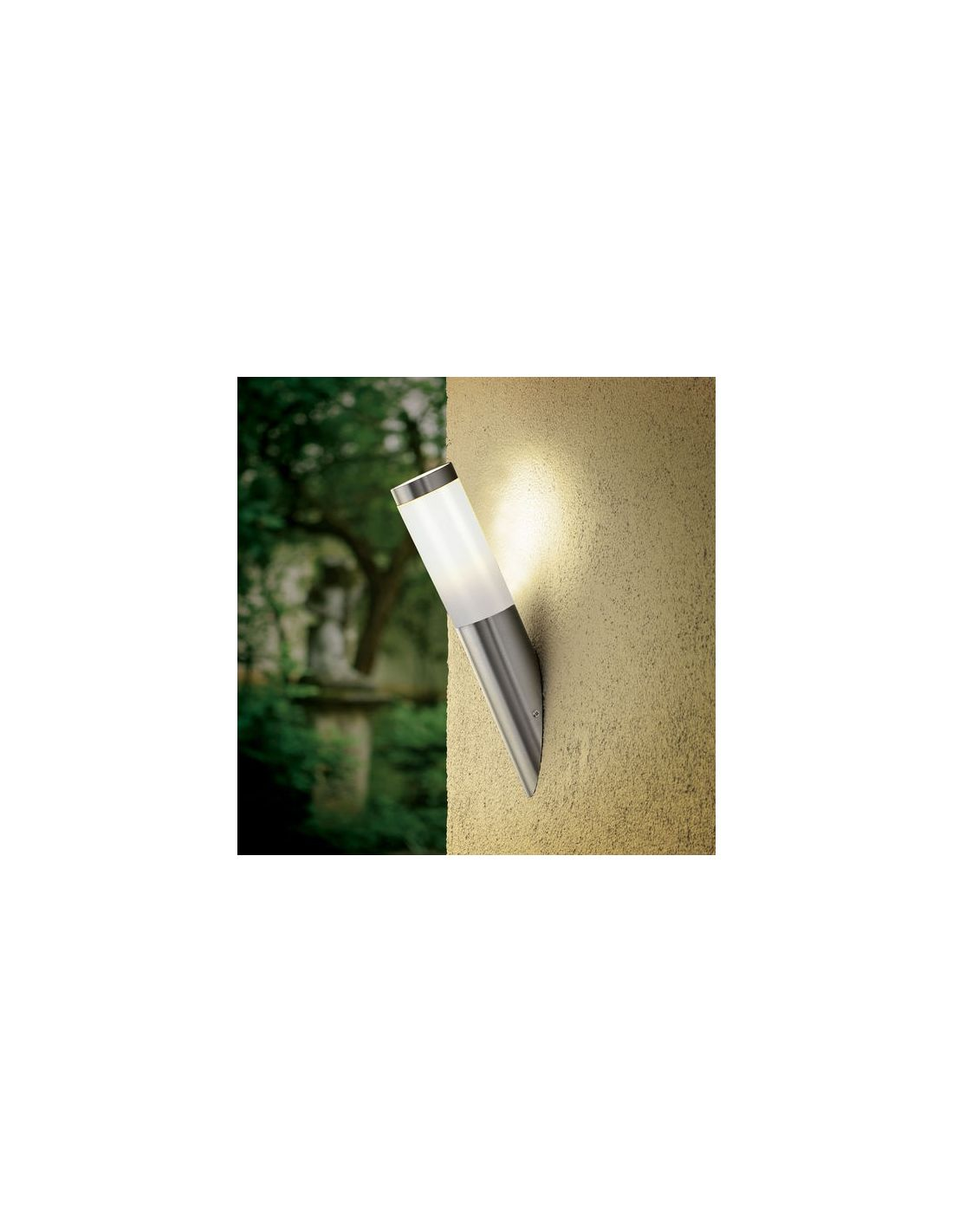 Apliques de exterior bajo de acero inoxidable de eglo for Aplique para bano en acero inoxidable