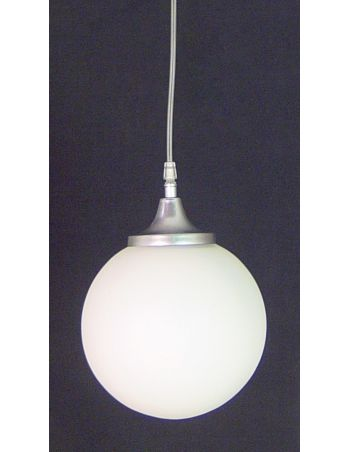 Lámpara Bola Cerrada de Cristal Traslúcido