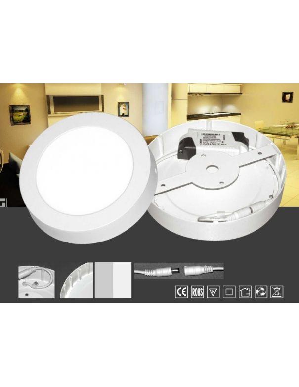Downlight de Superficie Led 22,5 cm Blanco o Plata