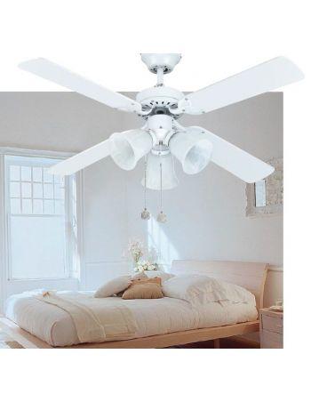 Ventilador Reversible Multicolor y Blanco