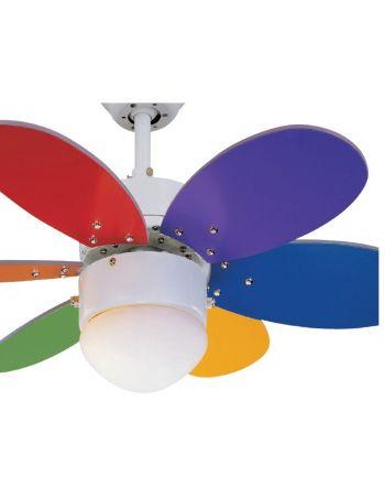 Ventilador multicolor