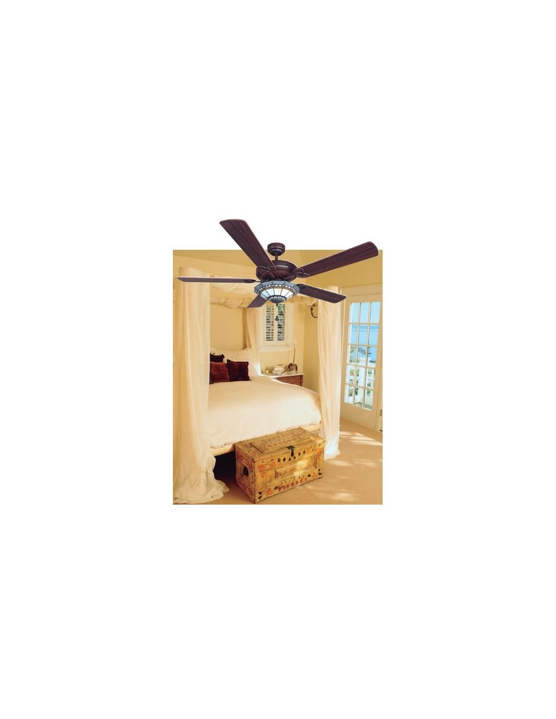 Ventilador de techo estilo tiffany ofertas env o r pido - Lampara ventilador de techo ...