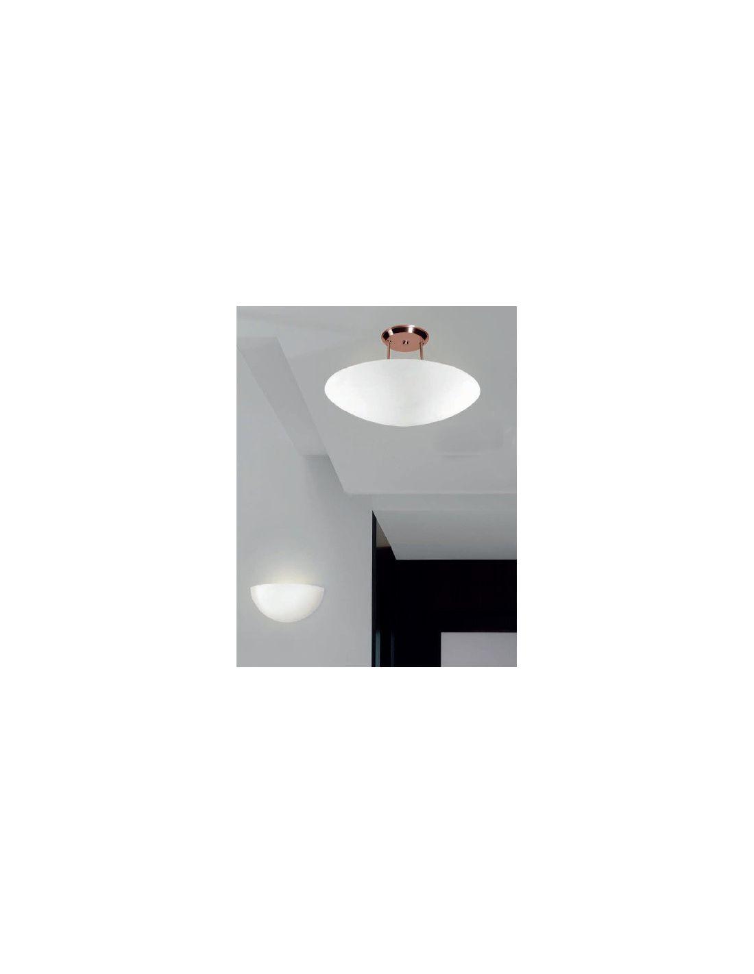 Plaf n l mpara cobre de fm iluminaci n for Plafones techo modernos