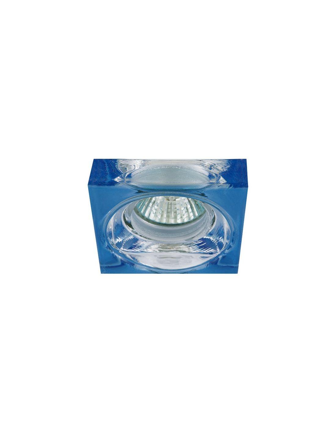 Focos de cristal de color azul - Focos para habitaciones ...