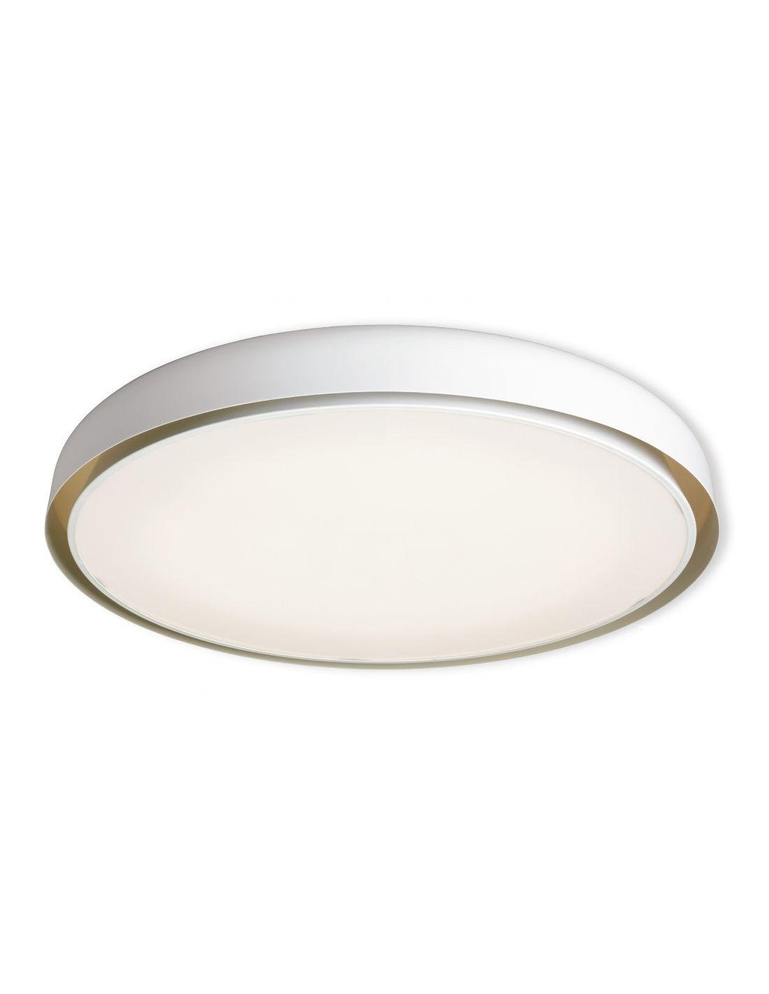 Plaf n de techo grande blanco y beige for Plafones techo modernos