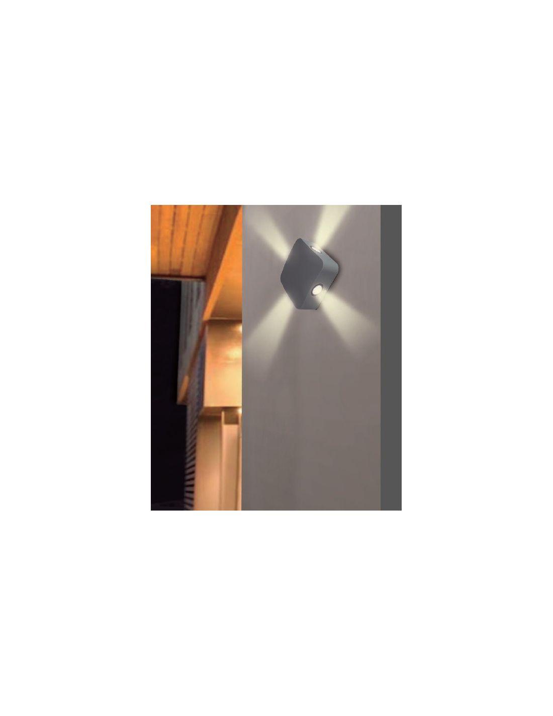 aplique exterior con efectos de luz en cuatro direcciones