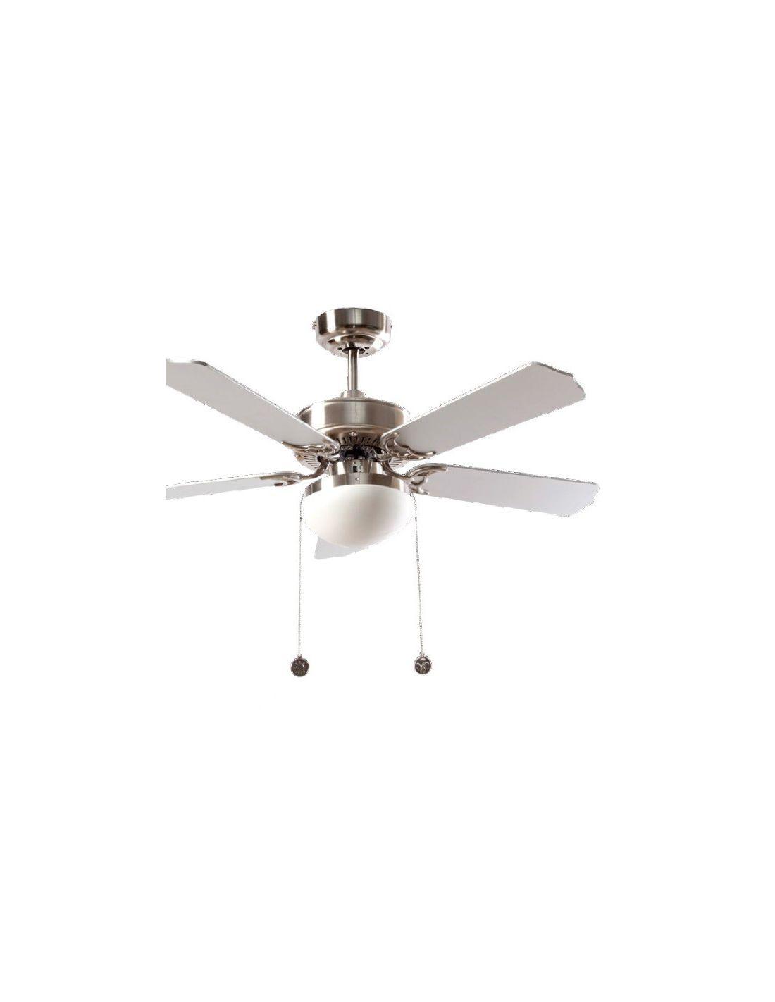 Ventilador de techo con palas reversibles plata y haya - Fotos de ventiladores de techo ...