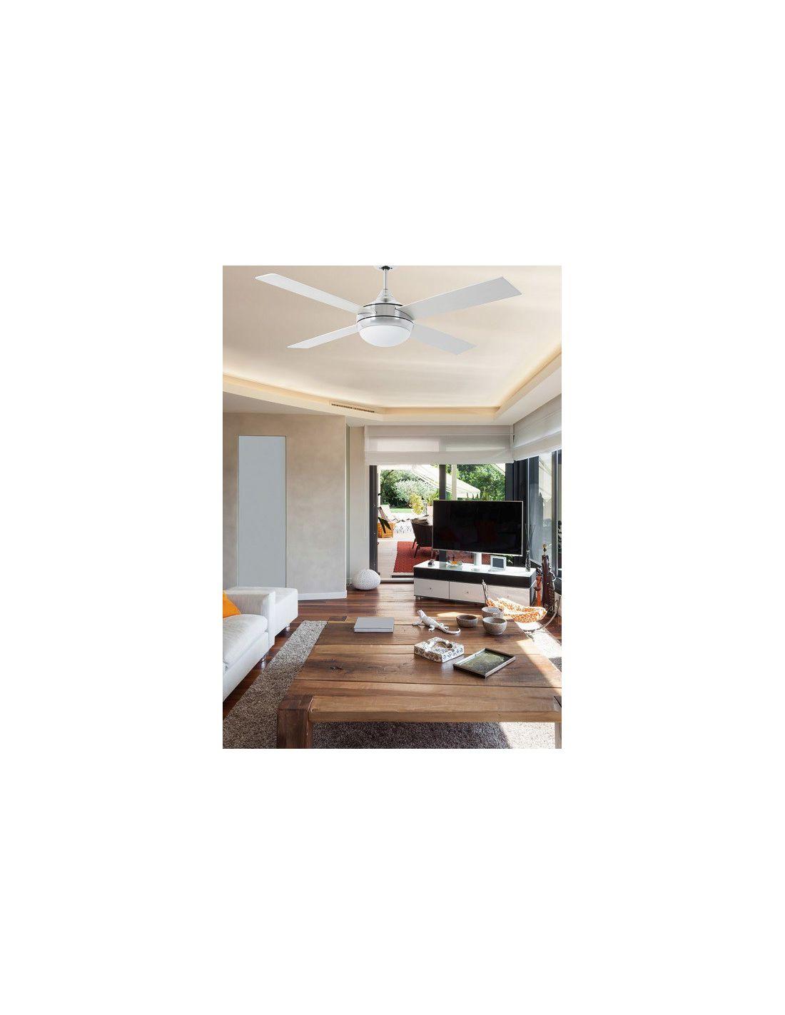 L mpara ventilador de techo moderno para habitaciones de hasta 17 m2 - Lampara de techo con ventilador ...