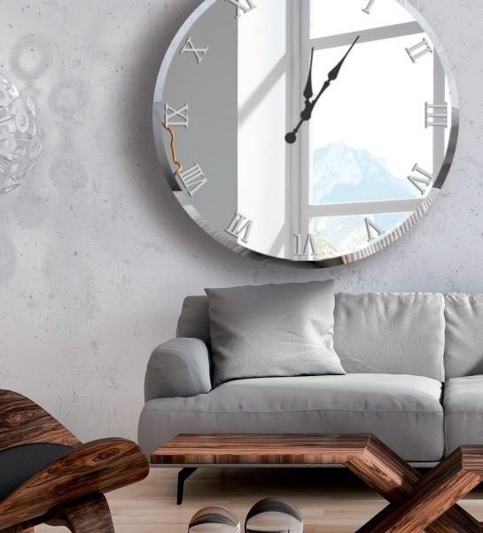 Pared de espejo affordable espejo de pared espejo - Reloj pegado pared ...