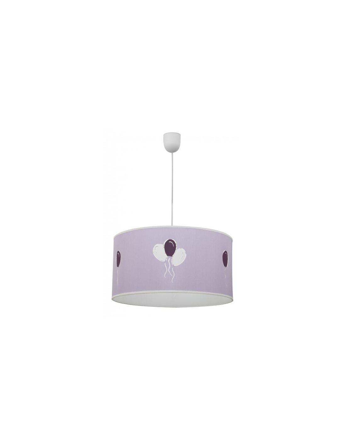Decoraci n dormitorio infantil lila l mparas - Precios de lamparas ...