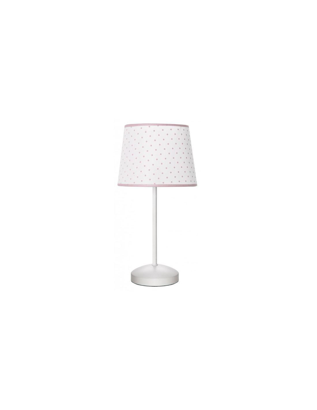Sobremesa de lunares rosa para dormitorio infantil ofertas - Lamparas dormitorio infantil ...