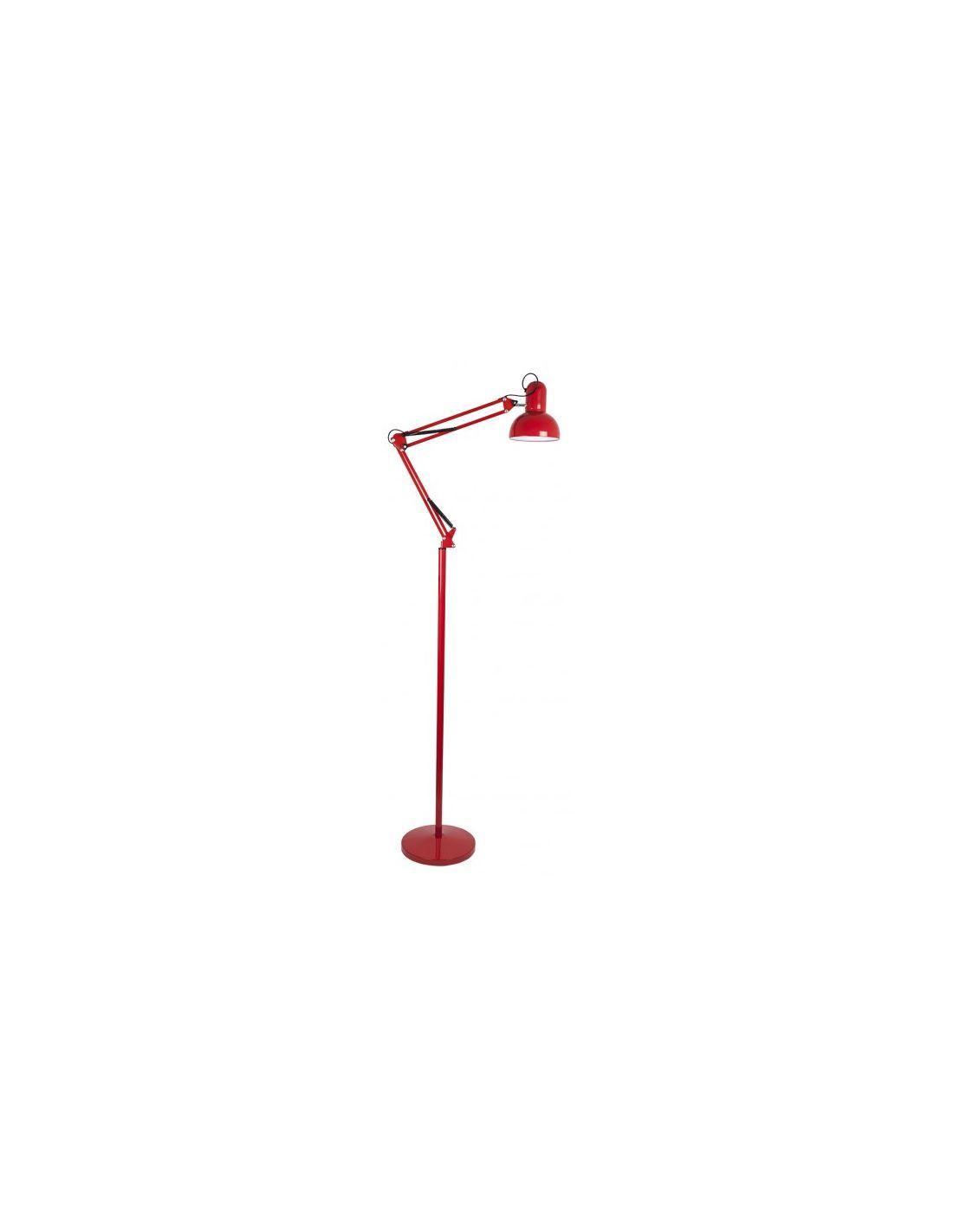 Lámpara de Pie Flexo Rojo Arquitecto Articulado Barato
