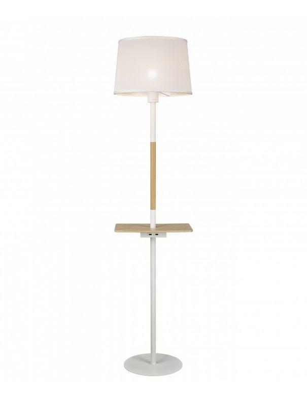 Lámpara de Pie con Mesilla y USB