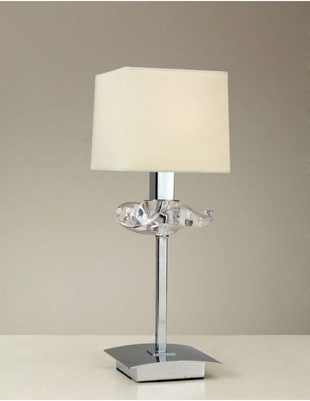 Lámpara de Mesa Pantalla de Tela