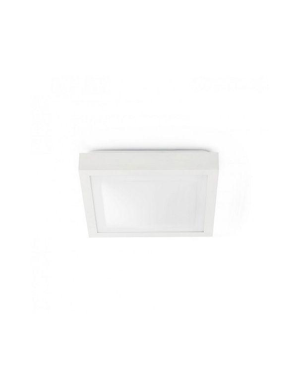 Plaf n cuadrado de 2 luces 2 e27 ip44 apto para ba o for Plafones led pared bano
