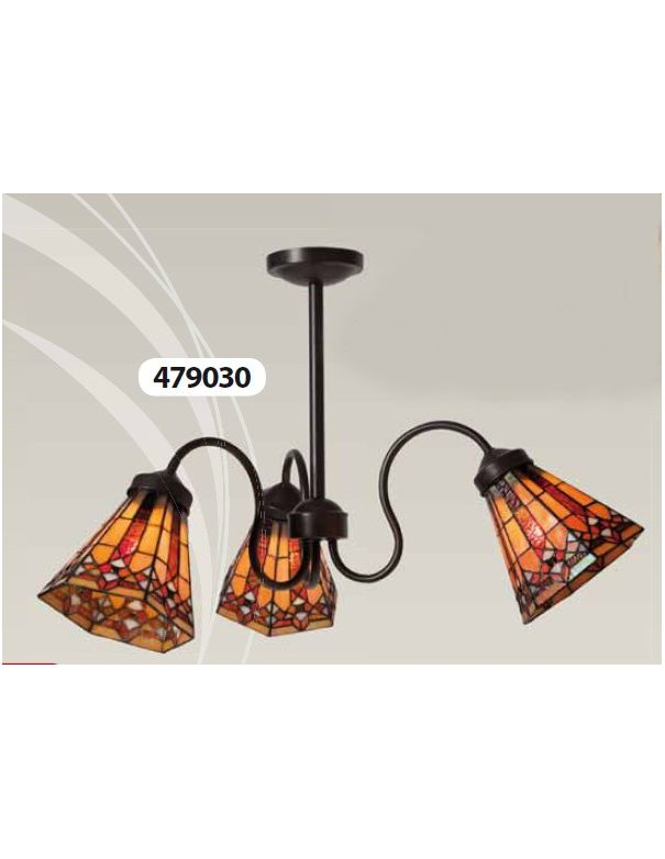 Lámpara 3 Luces TIFFANY