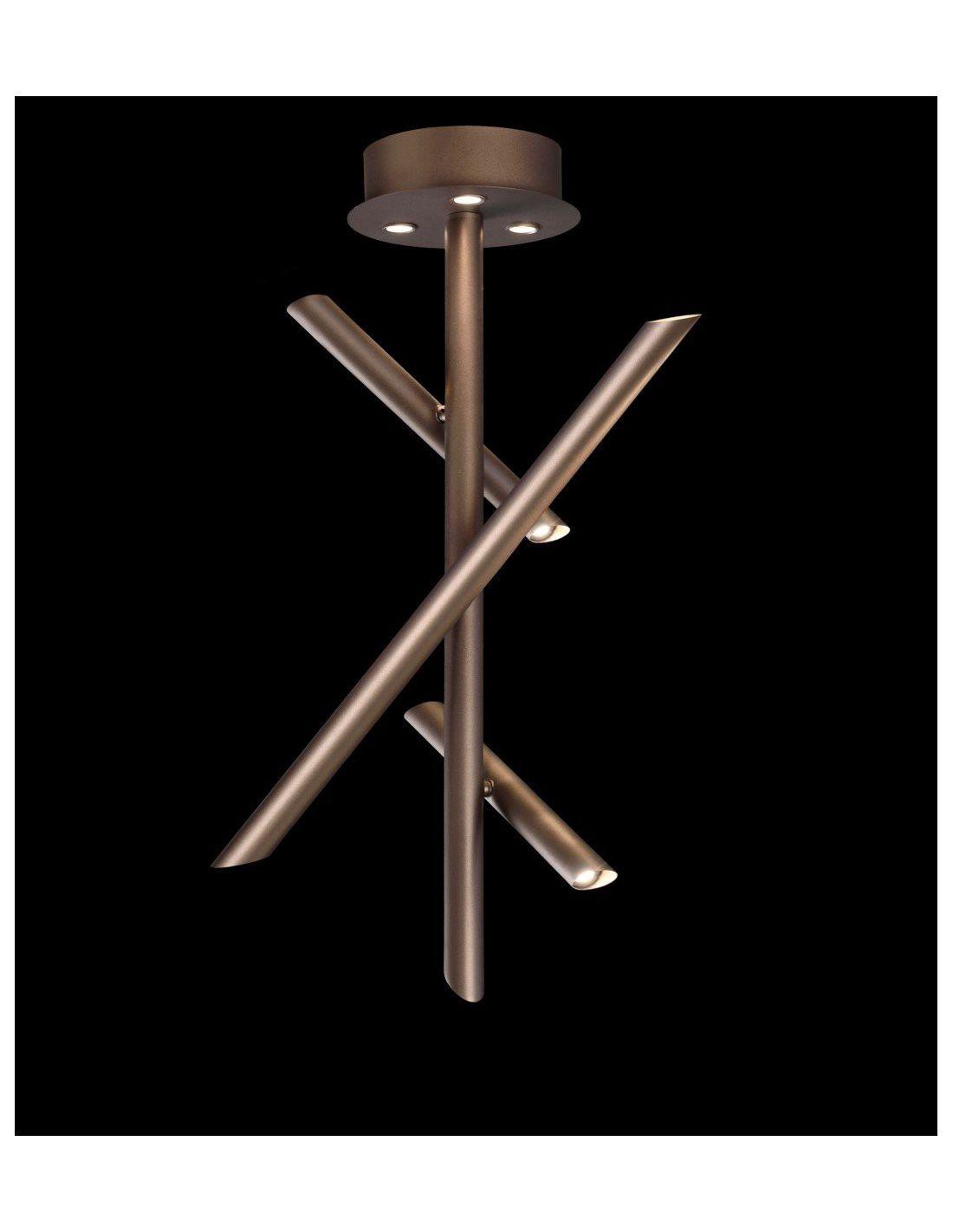 Semiplaf n take bronce de mantra iluminaci n env o gratis for Plafones led pared bano