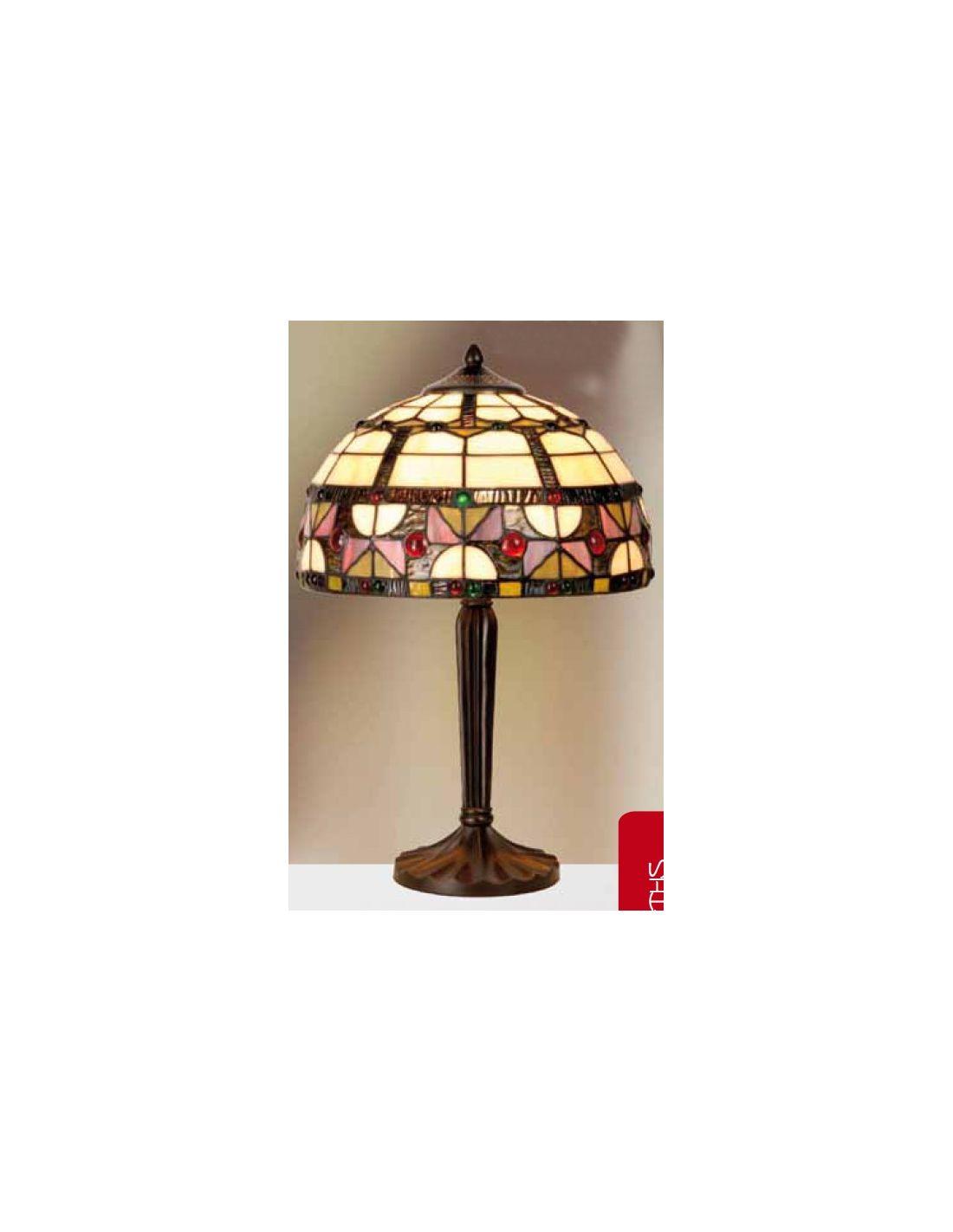 lampara de mesa vidriera