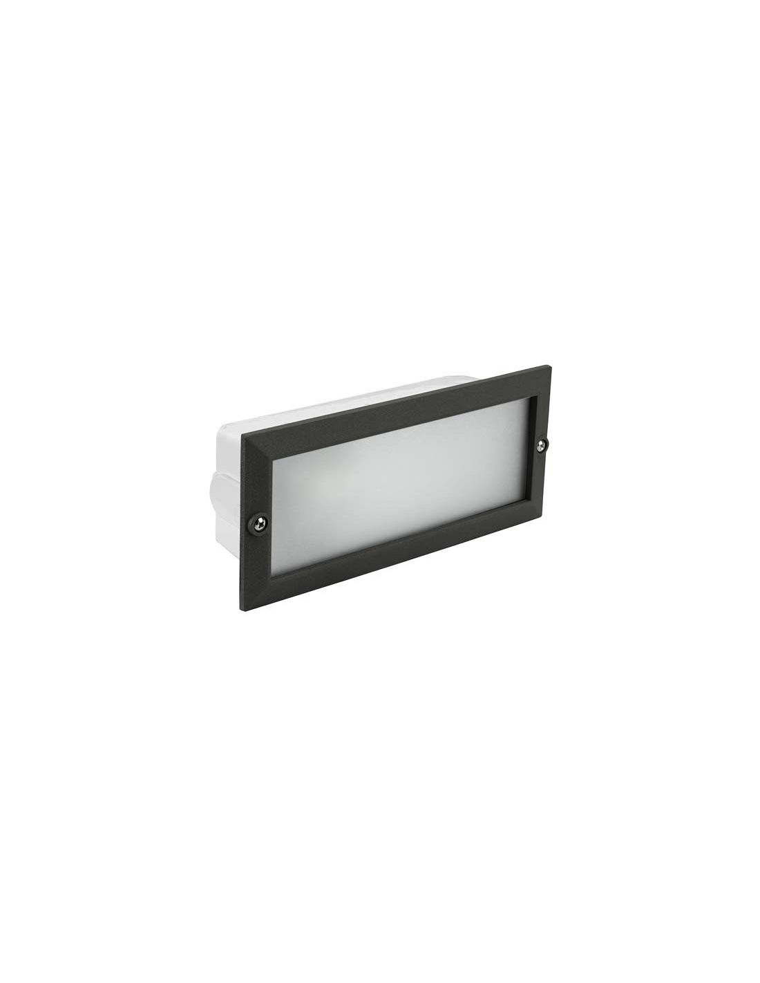 Empotrable exterior cristal negro for Focos empotrables exterior