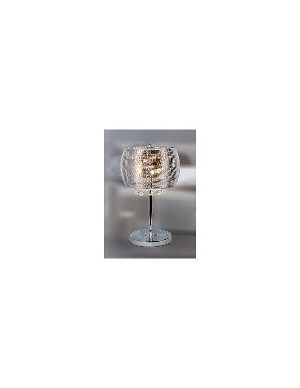 Lámpara Rinconera Bolas de Cristal