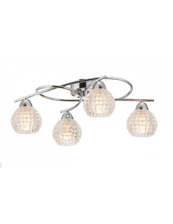 Lámpara semiplafón 4 luces