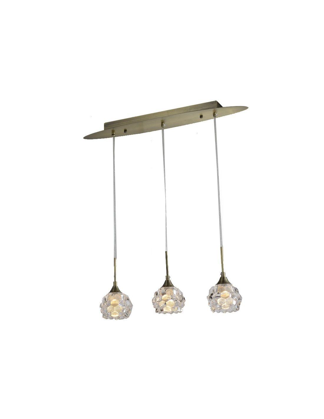L mpara plaf n 3 luces altura ajustable con tulipas de - Lamparas de exterior baratas ...