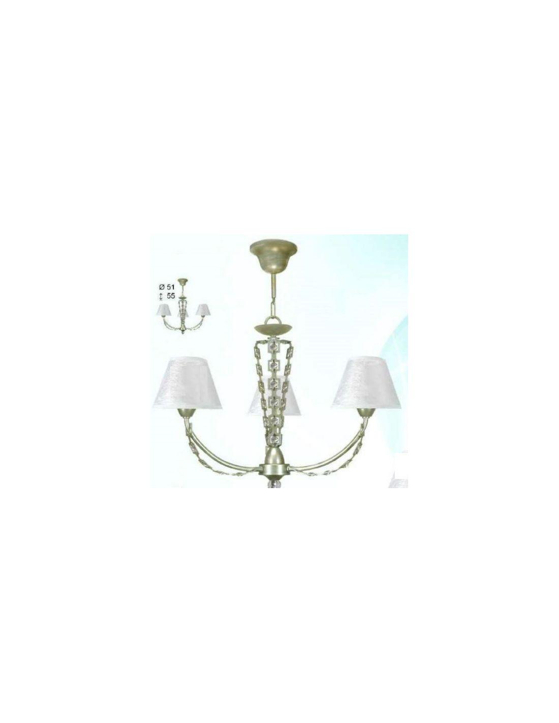 Champagne l mpara de techo con cristal asfour ofertas - Ofertas lamparas techo ...