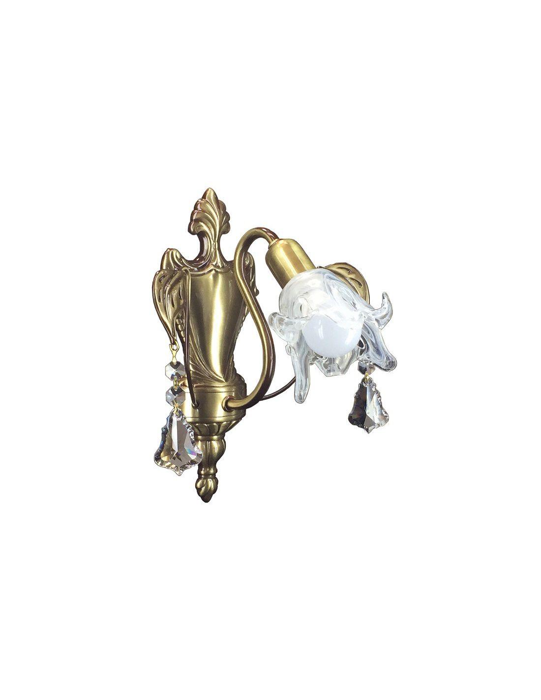 Apliques de bronce de 1 y 2 luces con tulipas fabricados en espa a - Comprar apliques ...