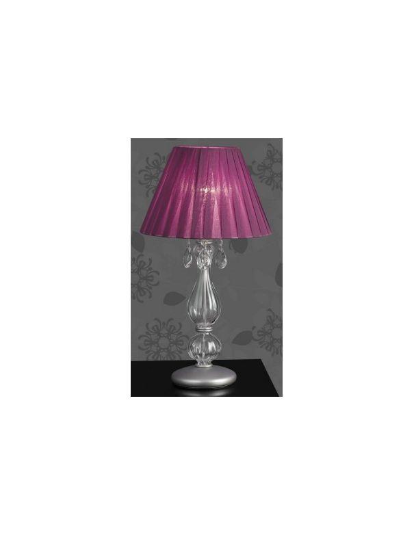 Lámpara de Mesita Pantalla Lila