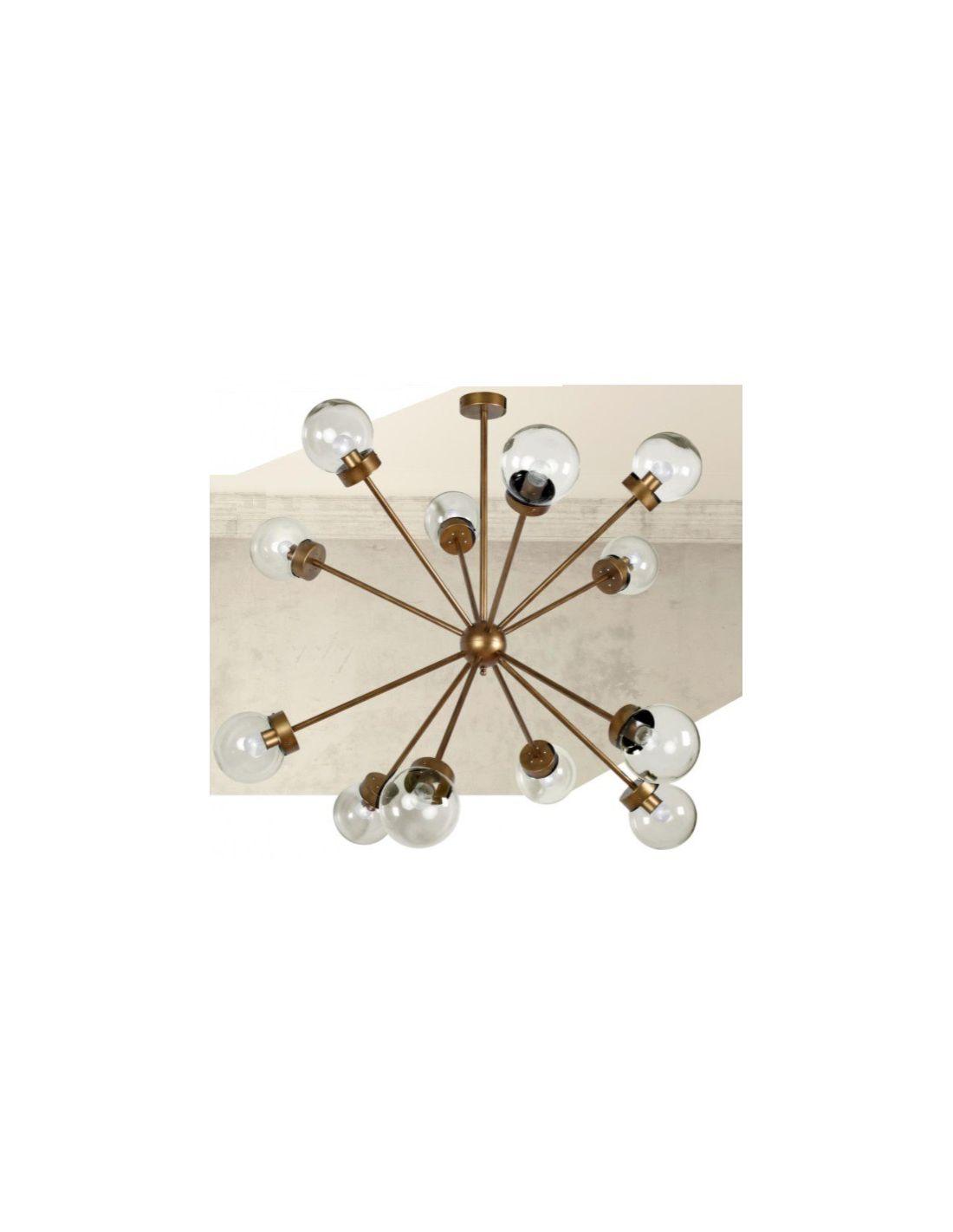 Estilo sputnik l mpara gran formato de 12 luces con - Lamparas para techos altos ...
