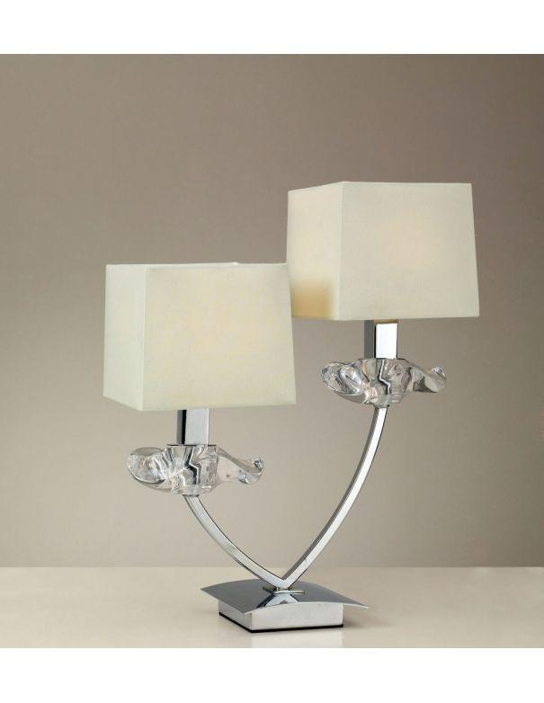 Lámpara de Mesa Pantalla Crema