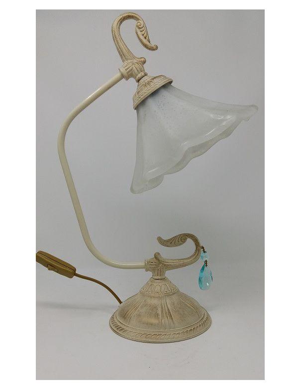Lámpara Rinconera Crema