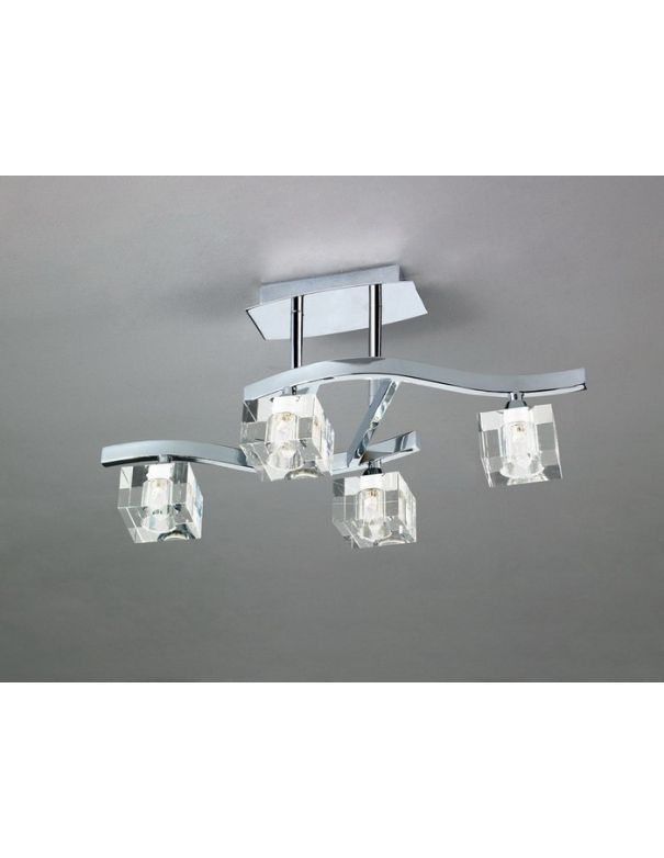 Lámpara 4 luces CUADRAX