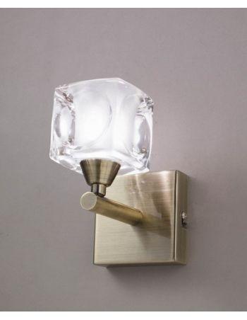 Lamparas doradas lampara cuadrax dorada del fabricante de - Lamparas luz sevilla ...