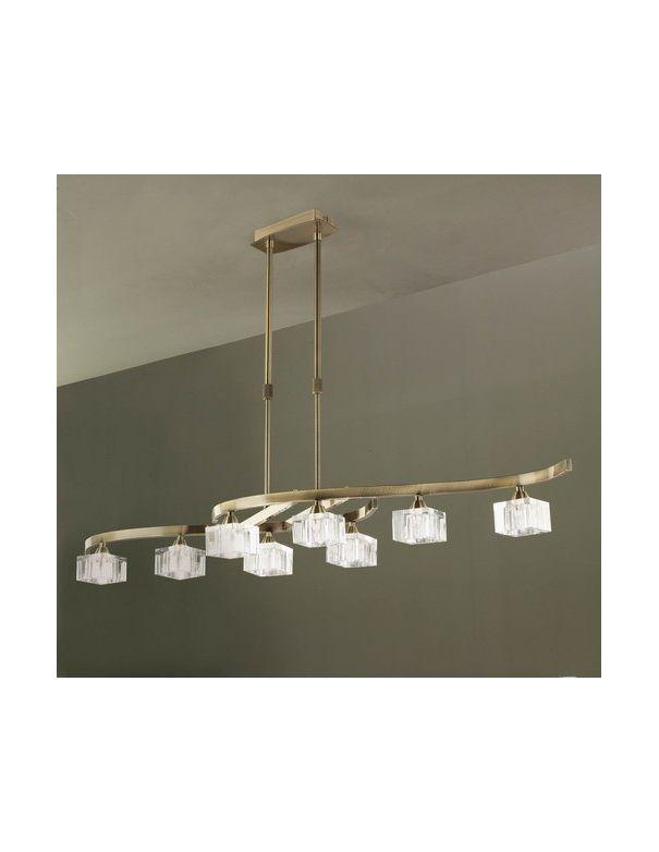 Lámpara 8 luces CUADRAX