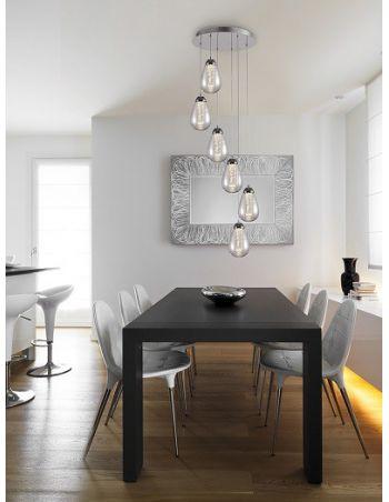 Lámpara con Burbujas Interiores