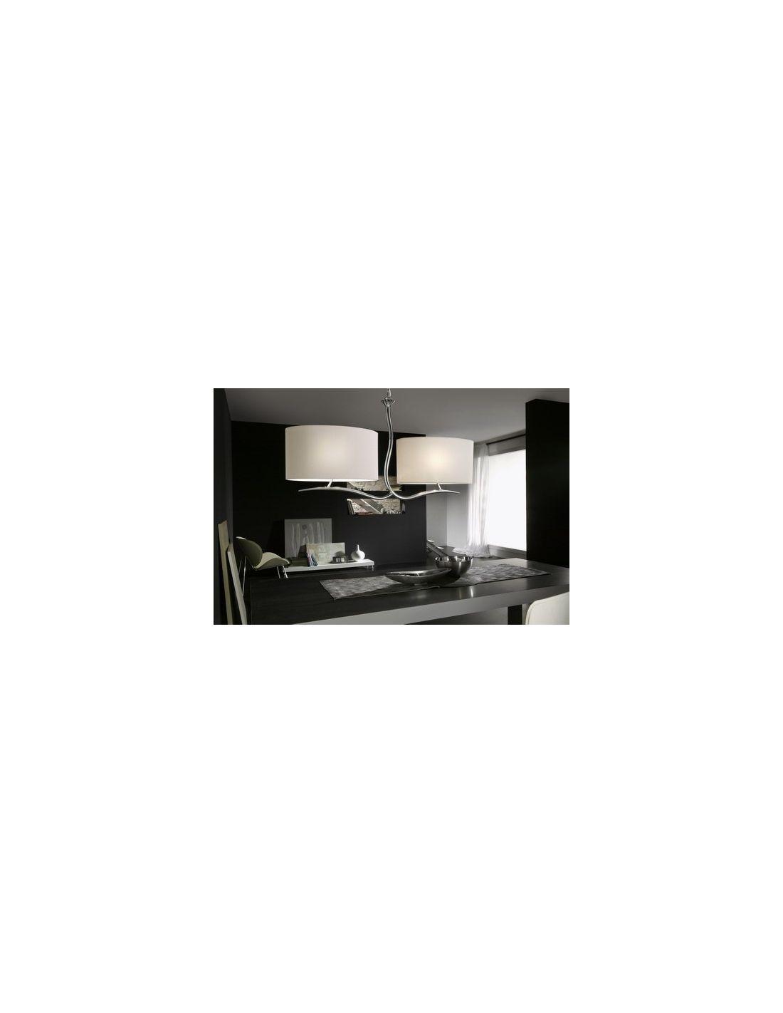 lamparas con pantallas, lamparas pantallas blanco roto, lampara ...