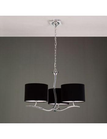 Lámpara Moderna Pantalla Negra