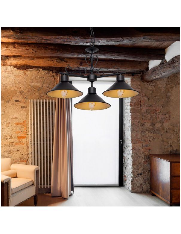 Lámpara de Diseño Negra