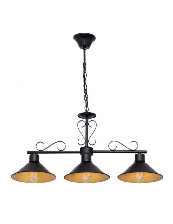 lampara de billar negra