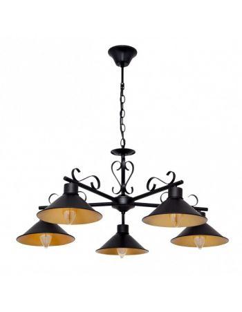 Lámparas Vintage Negro y Oro