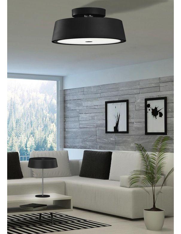 Lámpara Hall Pantalla Negra