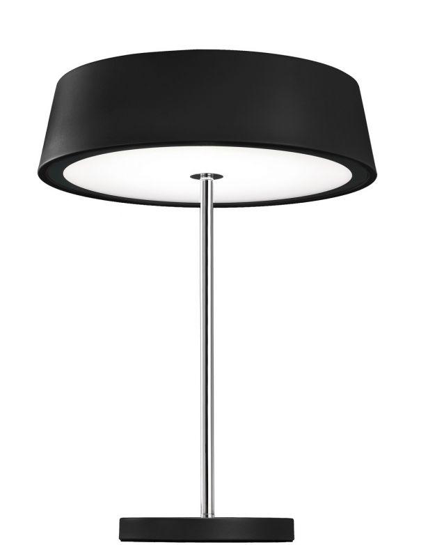 Lámpara de Mesa de Noche Pantalla Negra