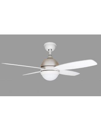 LAMPARA ventilador con mando led tricolor y placa intercambiable