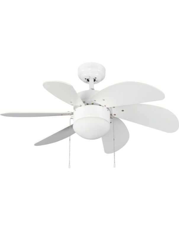 ventilador de techo pequeño blanco